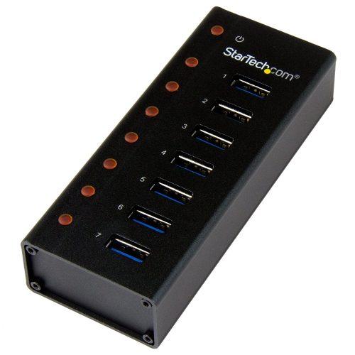 7 Port USB 3.0 Hub - Metal Enclosure - USB 3.0 Hub - USB Hub