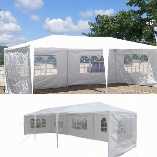 10'x30' Party Wedding Outdoor Patio Tent Canopy Gazebo Pavilion Event Canopies (5 Side Walls) - Party Tents