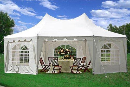 29'x21′ Decagonal Wedding Party Tent Canopy Gazebo Heavy Duty - Party Tents
