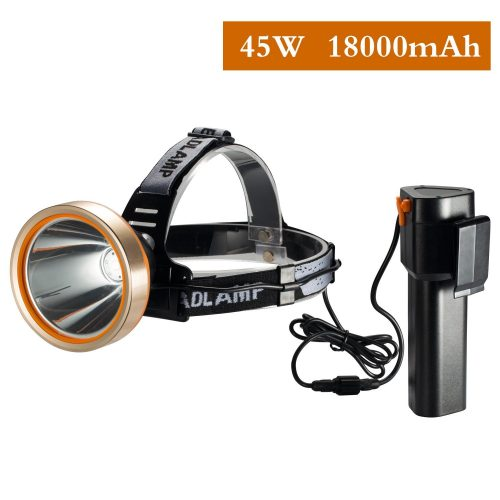 Brightest And Best LED Headlamp 6000 Lumen Flashlights Improved LED, Rechargeable 18650 Headlights Flash Lights Waterproof Hard Hat Lights Bright Head Lights. Running Or Camping Headlamps