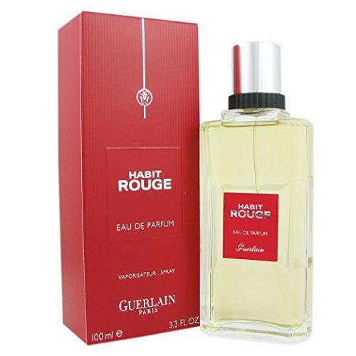 Guerlain Habit Rouge Eau de Parfum Spray for Men, 3.3 Ounce - long lasting colognes