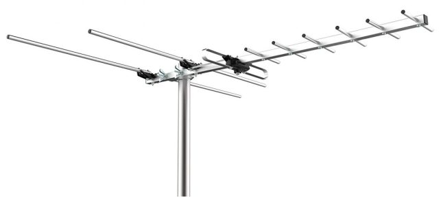 Mediasonic Homeworx HDTV Outdoor Antenna – 80 Miles Range Support UHF/VHF (HW-27UV) - long range outdoor HDTV antenna
