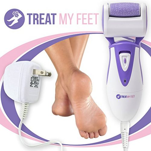 Rechargeable Electric Callus Remover & Foot File - Pedicure Tool to Exfoliate Dry Feet & Cracked Heels with Powerful Pumice Stone Rollers & Heel Smoother, Callous Shaver & Sander for Women & Men  - Foot Callus Removers