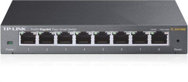 TP-Link 8-Port Gigabit Ethernet/Easy Smart Switch/ Managed Plus/ Plug and Play/ Desktop/ Sturdy Metal/ Limited (TL-SG108E) - Best Ethernet switches