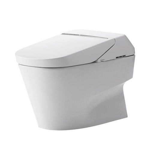 Toto MS992CUMFG#01 Neorest 1.0 GPF and 0.8 GPF 700H Dual Flush Toilet, Cotton White - one piece toilets