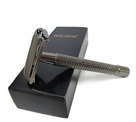 WEISHI Long Handle Version Butterfly Open Double Edge Safety Razor - Double Edge Safety Razors