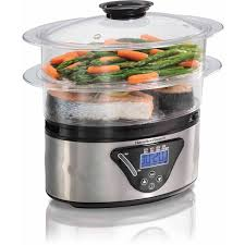 Hamilton Beach Digital Food Steamer – 5.5 Quart - Electric Food Steamers