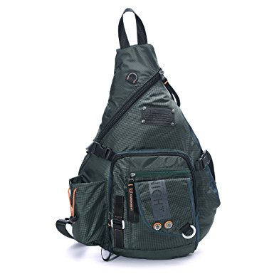 DDDH Large Sling Bags Crossbody Backpack 14.1-Inch Chest Daypack Outdoor Hiking Travel Bag Book Bag for Men & Women - Single Strap Backpack