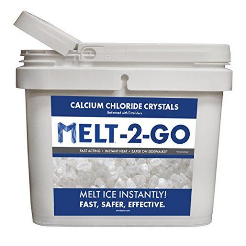Snow Joe AZ-25-CC-BKT Melt-2-Go Premium Calcium Chloride Crystal Ice Melter, 25-lb Flip-Top Bucket W/Scooper - Ice Melters