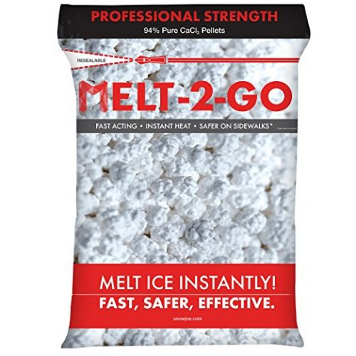 Snow Joe AZ-25-CCP-BKT Melt-2-Go 94% Pure Calcium Chloride Pellet Ice Melter, 25-lb Flip-Top Bucket W/Scooper - Ice Melters