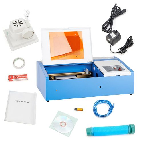 """Orion Motor Tech 12""""x 8"""" 40W CO2 Laser Engraving Machine Engraver Cutter with Exhaust Fan USB Port - laser engraving machine"""