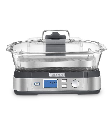 Cuisinart STM-1000 CookFresh Digital Glass Steamer, Stainless Steel - Electric Vegetable Steamers