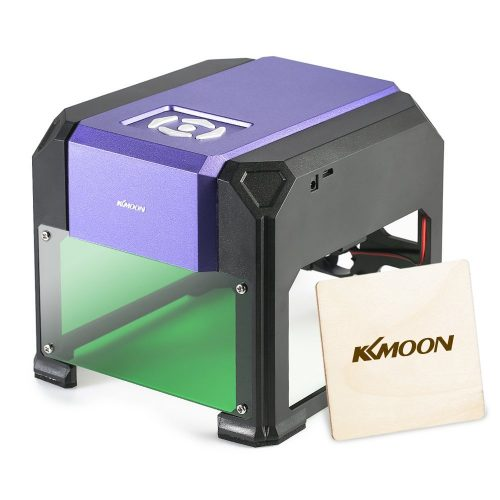KKmoon 1000mW Laser Engraving Machine High Speed Miniature Carving Engraver Carver Automatic DIY Handicraft Wood Burning Tools with 80 x 80mm No Engraved Object Size Limitation - laser engraving machine