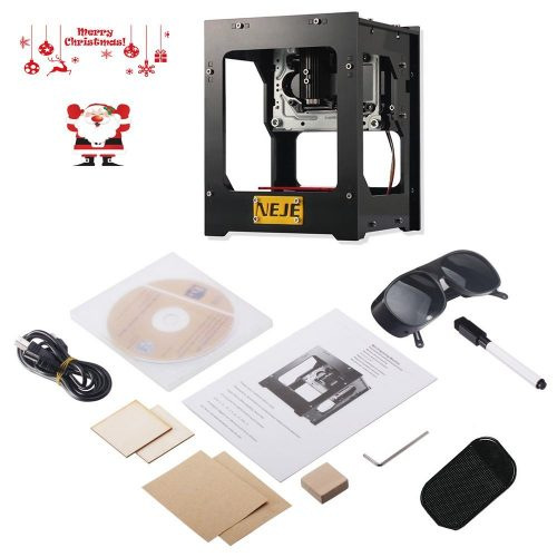 NEJE DK-BL 1500mw Laser Engraving Machine 6000MAh Mini DIY Phone Control Bluetooth 4.0 Offline Operation with Goggles for Win XP / Win 7 / Win 8 / Win 10 / Android 4.0 and above / iOS 9.0 and above - laser engraving machine