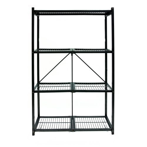 Origami R5-01 General Purpose 4-Shelf Steel Collapsible Storage Rack, Large - collapsible storage rack