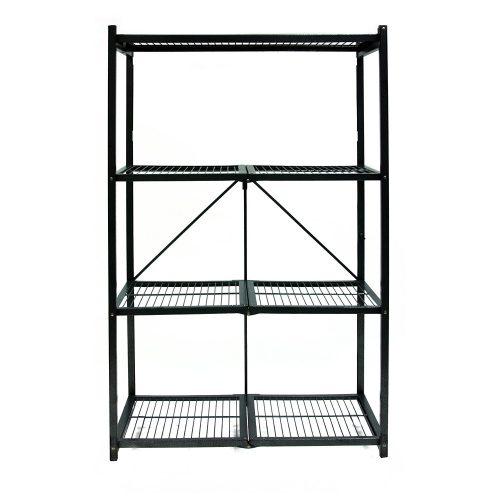 Origami R5-01 General Purpose 4-Shelf Steel Collapsible Storage Rack, Large - collapsible storage rack