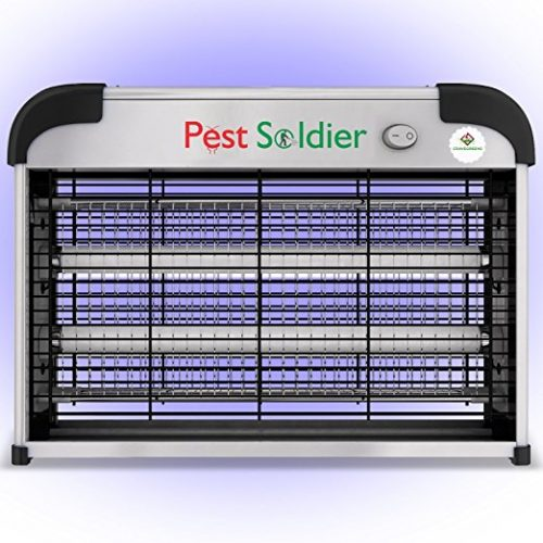 The Original Powerful 20W Electronic Indoor Insect Killer, Bug Zapper, Fly Zapper, Mosquito Killer by Pest Soldier - Bug Zappers