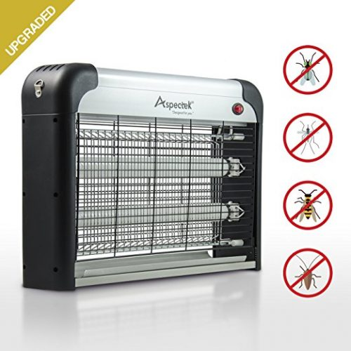 UPGRADED - Aspectek 20W Electronic Bug Zapper, Insect Killer, Mosquito Control, Mosquito Zapper, Mosquito Killer, Fly Zapper, Fly Killer for Indoor Residential & Commercial - Bug Zappers