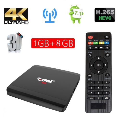 7. Edal R1 Android 6.0 1GB/8GB Smart TV Box Rockchip RK3229 Quad-core Cortex A7 1.5GHz 32bit 4K2K Support 802.11 b/g/n, 2.4G