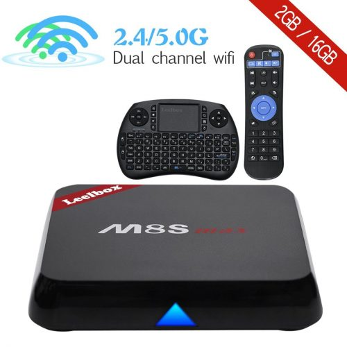 Leelbox M8S max Android TV Box Android 6.0 /BT4.0/ 2GB RAM+16GB ROM/ s905X / Dual-band WIFI2.4GHz+5.0GHz/100M LAN
