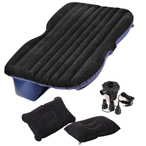 Fashion Car Travel Inflatable Mattress Air Bed U Back Seat Extended Sleep Rest with Air Pump