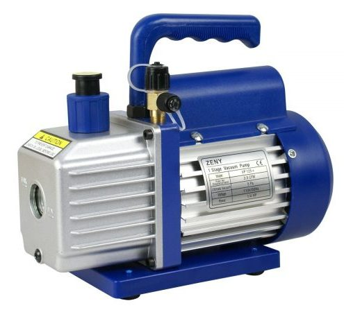 "ZENY 3,5CFM Single-Stage 5 Pa Rotary Vane Economy Vacuum Pump 3 CFM 1/4HP Air Conditioner Refrigerant HVAC Air tool R410a 1/4"" Flare Inlet Port-Air-Conditioning Vacuum Pumps"