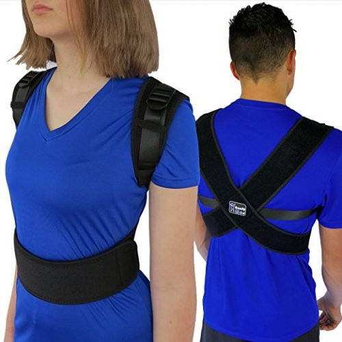 "ComfyMed® Posture Corrector Clavicle Support Brace CM-PB16 Medical Device to Improve Bad Posture, Thoracic Kyphosis, Shoulder Alignment, Upper Back Pain Relief for Men and Women (REG (29""-40"" Chest))"