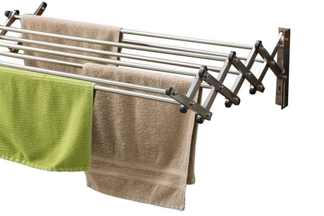 Aero-W Stainless Steel Folding Clothes Rack (60lb Capacity, 22.5 Linear Ft)