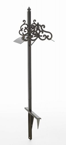 Liberty Garden Products 649-KD Hyde Park Decorative Metal Garden Hose Stand, Holds 125-Feet of 5/8-Inch Hose – Bronze