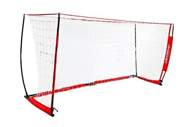 PowerNet Soccer Goal 12x6 Portable Bow Style Net-portable soccer goals
