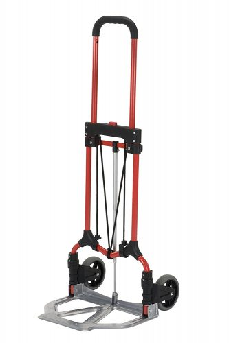 Magna Cart S-RS MCI Personal Folding Steel Hand Truck, Red/Silver
