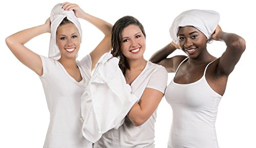 Ultimate Hair Towel-Anti-Frizz Soft Smooth Absorbent Combed Cotton-Wrap, Plop or Scrunch-Large (29x45in)