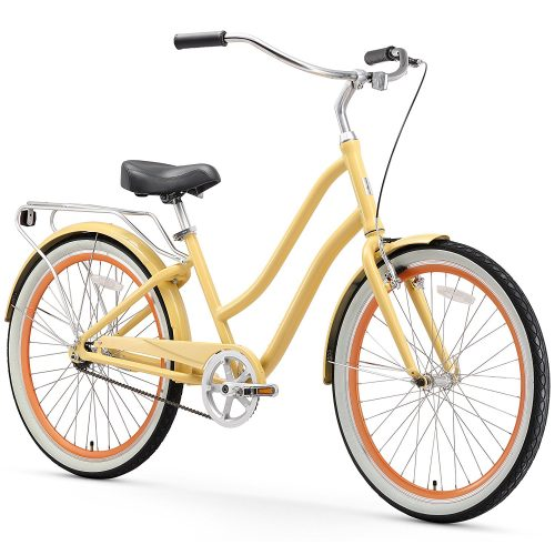 sixthreezero EVRYjourney Women's 26-Inch Step-Through Hybrid Cruiser Bicycle