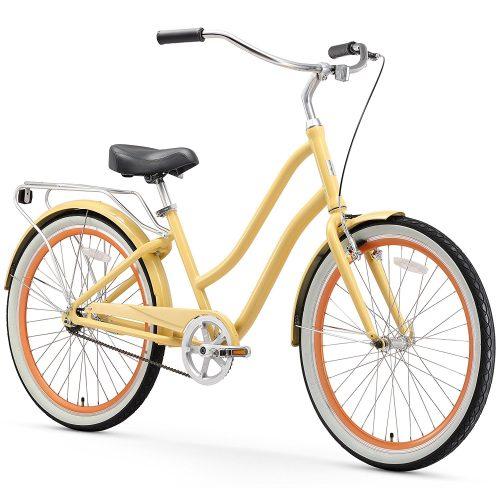 sixthreezero EVRYjourney Women's 26-Inch Step-Through Hybrid Cruiser Bicycle