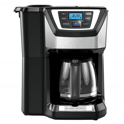 BLACK + DECKER 12- Cup Mill and Brew Coffeemaker, Black, CM5000B