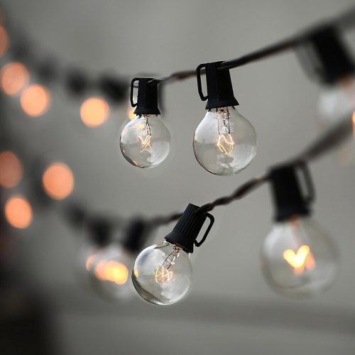 String Lights, Lampat 25Ft G40 Globe String Lights with Bulbs-UL Listd for Indoor/Outdoor Commercial Décor