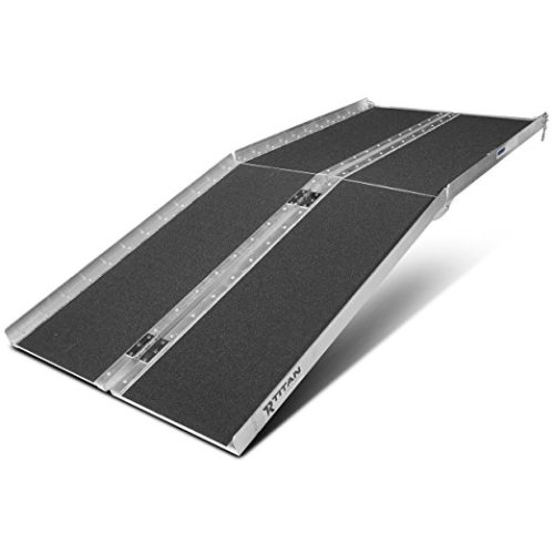 "Titan Ramps 6' ft Aluminum Multifold Wheelchair Scooter Mobility Ramp portable 72"" (MF6)"