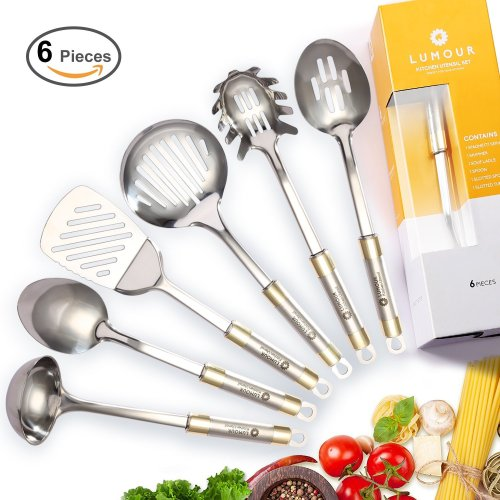 Lumour [Piece] Stainless Steel Kitchen Cooking Utensil Set
