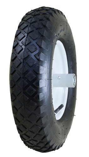 "Marathon 4.80/4.00-8"" Pneumatic (Air Filled) Tire on Wheel, 6"" Hub, 5/8 Bearings, Knobby Tread"