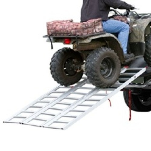 Black Widow Rage Powersports TF-7754 Full Width Tri-Fold Aluminum ATV Loading Ramp (77' x 54')