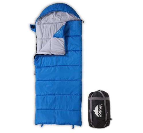 All Season Kids Sleeping Bag - Perfect for Children's Camping, Backpacking & Sleepovers - Fits Girls, Boys & Teens up to 5'1. Lightweight & Compact. Tough Ripstop Waterproof Shell & High-Loft Fill