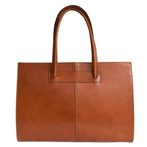Womens leather business bag/ laptop bag/ briefcase/carelli Italia Roma orange brown