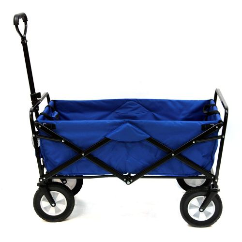 Mac Sports Collapsible Folding Outdoor Utility Wagon, Blue - Collapsible Wagons
