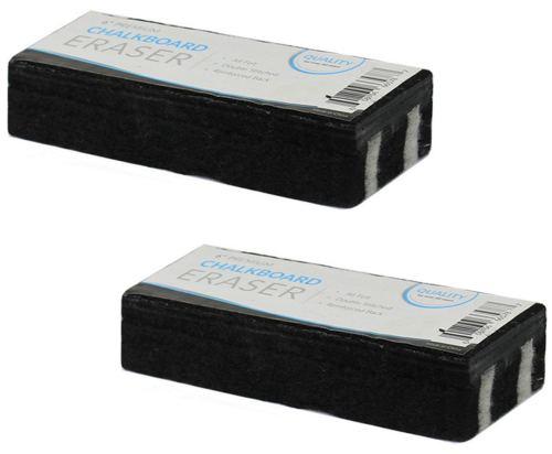 Traditional Chalkboard Eraser, All Felt 6 inch Premium Quality Chalk Eraser, Set of 2 (2 Pack)