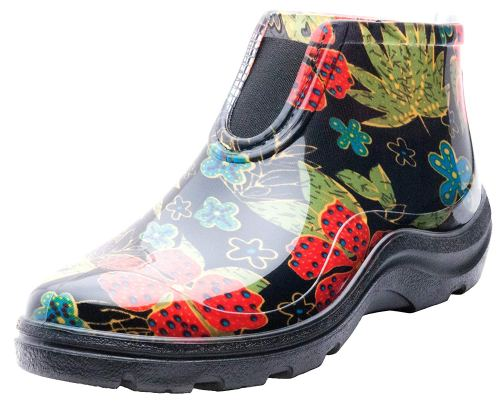 Sloggers Women's Waterproof Rain and Garden Ankle Boots with Comfort Insole, Midsummer Black, Size 9, Style 2841BK09