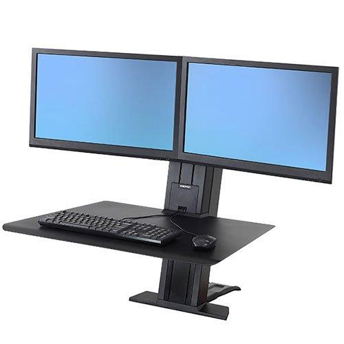 Ergotron174; WorkFit-SR, Dual Monitor, Sit-Stand Desktop Workstation, Black