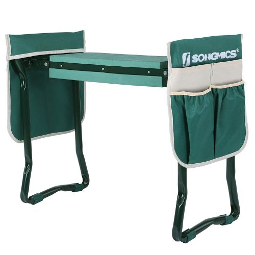 SONGMICS Folding Garden Kneeler - Folding Bench Stool with Kneeling Pad for Gardening - Sturdy, Lightweight and Practical - Protect Your Knees and Clothes When Gardening - Gardening Gift UGGK50L