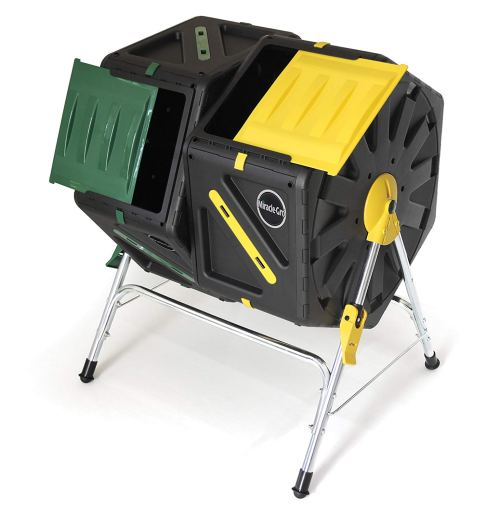 Miracle-Gro All-Season Composter, Dual Chamber Compost Tumbler