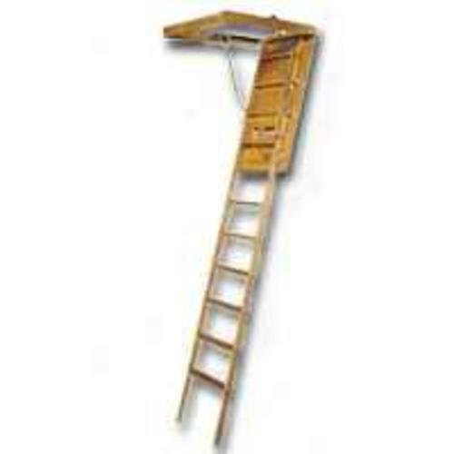 "LOUISVILLE LADDER FTL224P Wood Attic Ladder, 1210"""