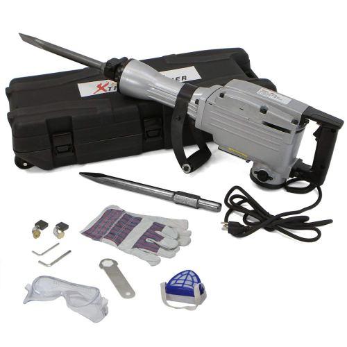 XtremepowerUS Heavy Duty Electric 2200 Watt Demolition Jack Hammer Concrete Breaker Power Tool Kit